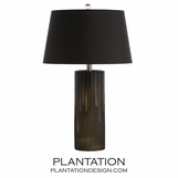 Dyer Glass Table Lamp | Black Shade