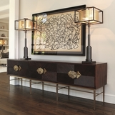 Ecuador Wood & Brass Console