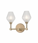 Elaine 2-Light Sconce | Antique Brass
