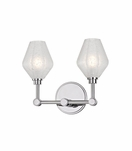 Elaine 2-Light Sconce | Polished Chrome