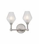 Elaine 2-Light Sconce | Satin Nickel