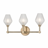 Elaine 3-Light Vanity Fixture | Antique Brass