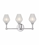 Elaine 3-Light Vanity Fixture | Polished Chrome