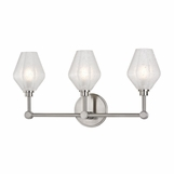 Elaine 3-Light Vanity Fixture | Satin Nickel