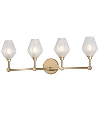 Elaine 4-Light Vanity Fixture | Antique Brass