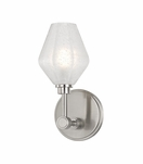 Elaine Single Sconce | Satin Nickel