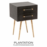 Elkie Narrow Side Table | Dark Brown