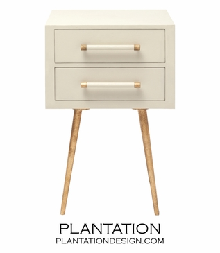 Elkie Narrow Side Table | Ivory