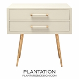 Elkie Wide Side Table | Cream