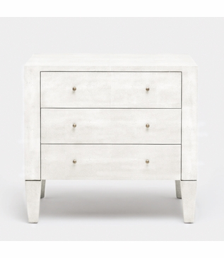 Emmett Wide Side Table | White