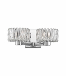 Evelyn 2-Light Sconce | Polished Chrome