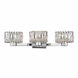 Evelyn 3-Light Vanity Fixture | Polished Chrome