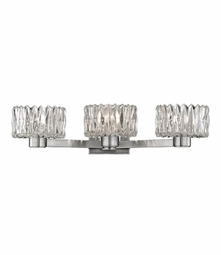 Evelyn 3-Light Vanity Fixture | Satin Nickel