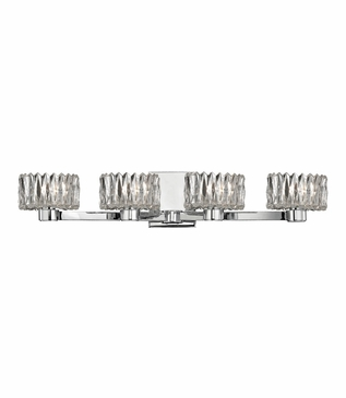Evelyn 4-Light Vanity Fixture | Polished Chrome