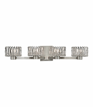 Evelyn 4-Light Vanity Fixture | Satin Nickel