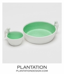 Finch Ceramic Bowls Set | Green