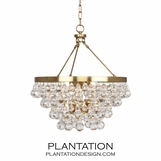 Flair Chandelier | Antique Brass