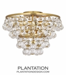 Flair Flush Mount | Antique Brass