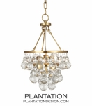 Flair Mini Pendant | Antique Brass