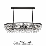 Flair Oval Chandelier | Dark Bronze