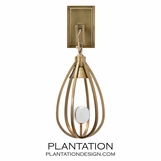 Flannery Sconce | Antique Brass