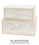 Foster Shell Boxes Set   Natural MOP