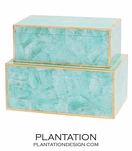 Foster Shell Boxes Set | Turquoise MOP