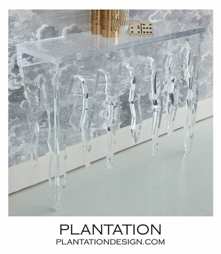 Frost Lucite Console Table
