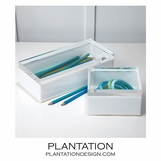 Frozen Lucite Boxes Set | White