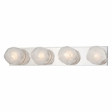 Gabbro 4-Light Bath Bar | Polished Nickel