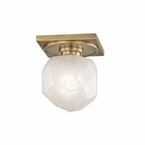 Gabbro Mini Flush Mount | Antique Brass