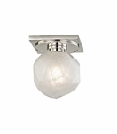 Gabbro Mini Flush Mount | Polished Nickel