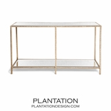 Gatsby Textured Console | Gold Leaf