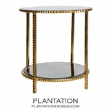 Gatsby Textured Side Table | Gold Leaf