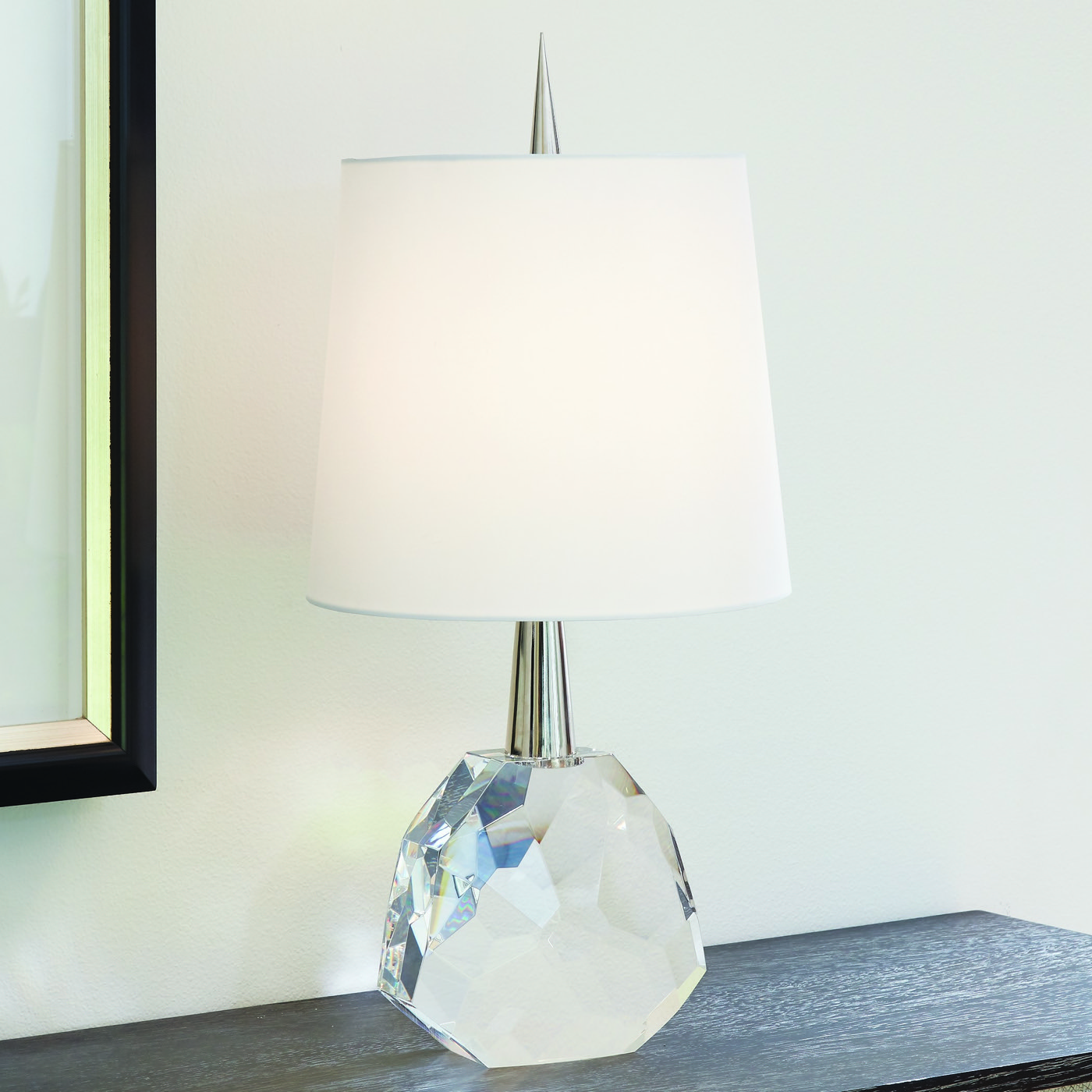 Gem Crystal Table Lamp Clear Amp Nickel Plantation