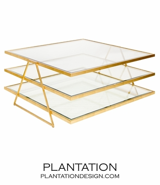Giovanni Coffee Table | Gold Leaf