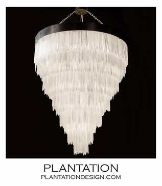Glacier Grand Selenite Chandelier | Round