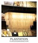 Glacier Selenite Chandelier | Rectangle
