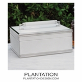 Grigio Leather Box | White