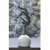 Gymnast Balancing Sculpture