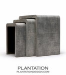 "Harley ""Shagreen"" Nesting Tables 