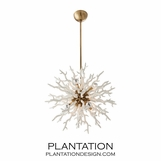 Hasina Chandelier | White & Brass