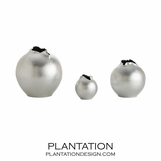 Hatch Porcelain Vases Set | Silver