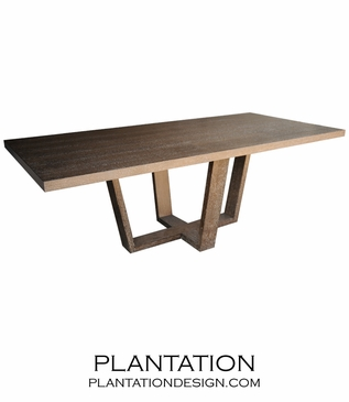 Hathaway Rectangular Dining Table, Stained