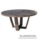 Hathaway Round Dining Table, Stained