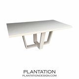 Hathaway Rectangular Dining Table, Bleached