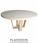 Hathaway Round Dining Table | White
