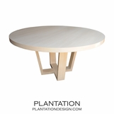 Hathaway Round Dining Table, Bleached