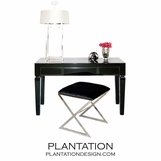 Henrik Glass Desk | Black