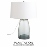 Horton Glass Lamp | Grey